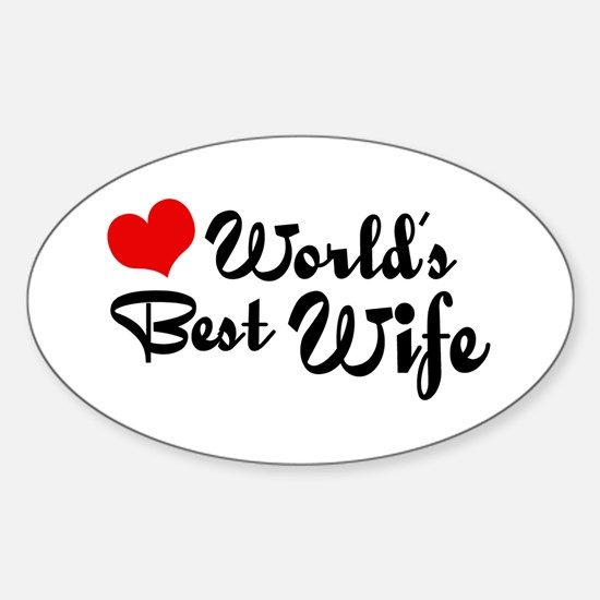 World's Best Wife Oval Decal
