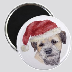 Christmas Border Terrier Magnet