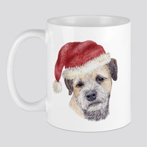 Christmas Border Terrier Mug
