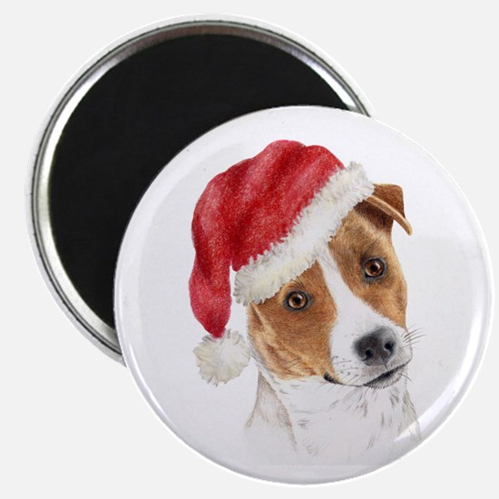 Christmas Jack Russell Terrie Magnet