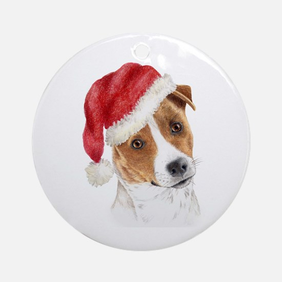 Christmas Jack Russell Terrie Ornament (Round)