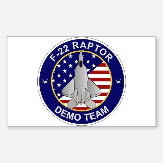 F-22 Raptor Sticker (Rectangle)