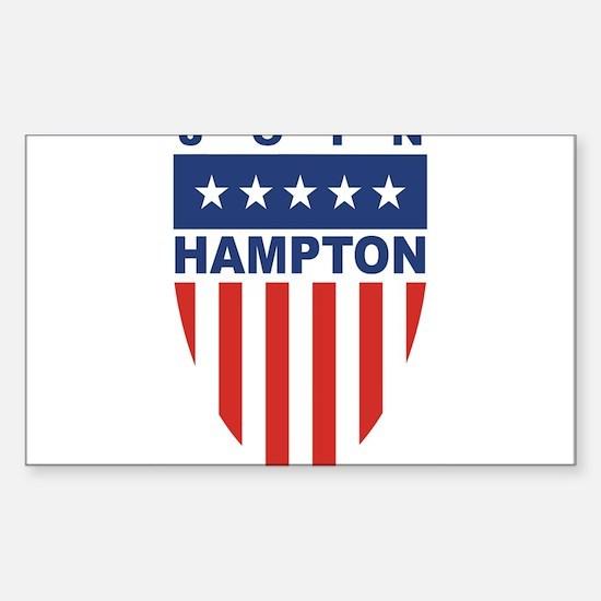 Join Tom Hampton Rectangle Decal