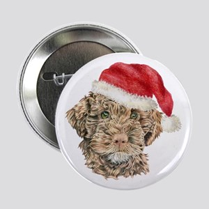 Christmas Lagotto Romagnolo Button