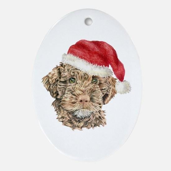 Christmas Lagotto Romagnolo Oval Ornament