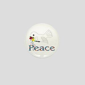Peace Bird Mini Button