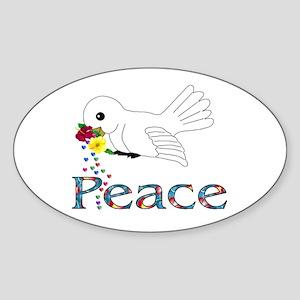 Peace Bird Sticker (Oval)