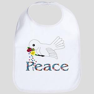Peace Bird Cotton Baby Bib