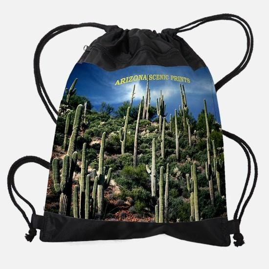 Many Saguaro Near Roosevelt Lake Ca Drawstring Bag