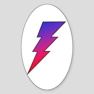 The Lightning Bolt 2 Shop Oval Sticker