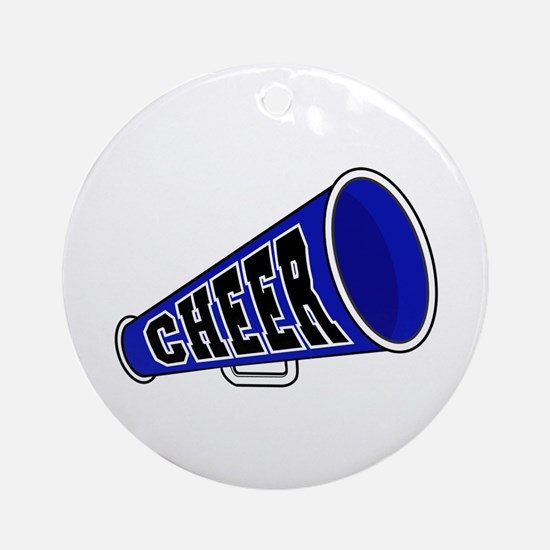 Blue Cheer Megaphone Ornament (Round)