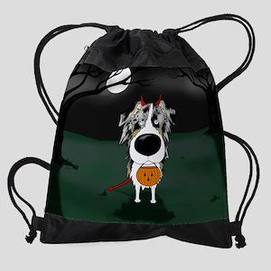 BluMerleAussieOct Drawstring Bag