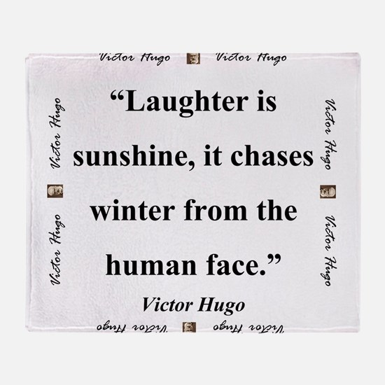 Laughter Is Sunshine - Hugo Throw Blanket