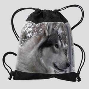 Snowface Cosmo mousepad enlarged an Drawstring Bag