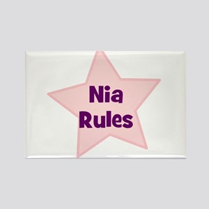 Nia Rules Rectangle Magnet