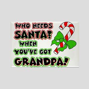 Santa? Grandpa! Rectangle Magnet