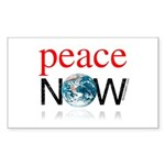 Peace Now Rectangle Sticker