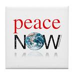 Peace Now Tile Coaster