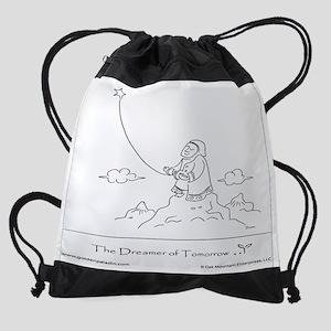 The Dreamer of Tomorrow Drawstring Bag