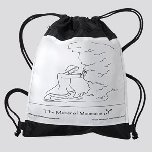 The Mover of Mountains Drawstring Bag