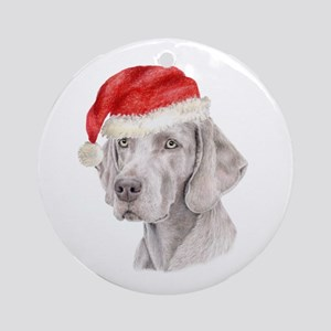 Christmas Weimaraner Ornament (Round)