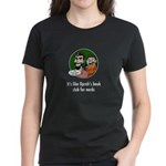 Behind The Panels Women's Black with Quote 1