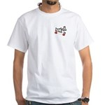 unisex JUST ROLL WITH IT White T-Shirt