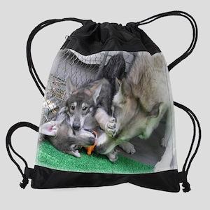 z Tumble cropped enlarged Drawstring Bag