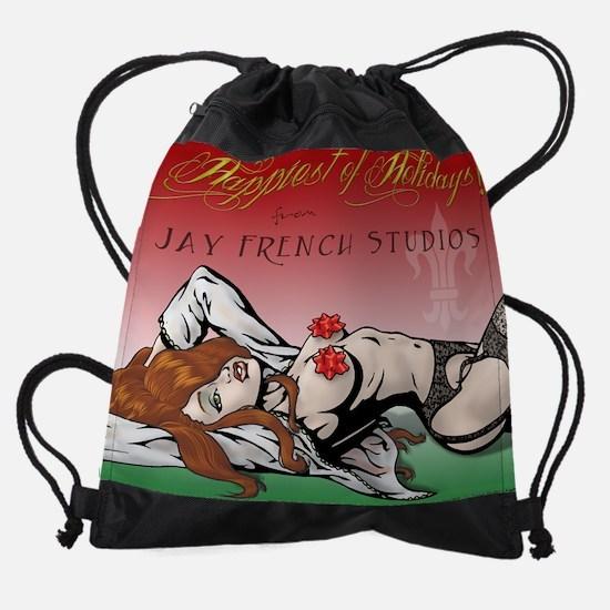 PinupCal12DEC.jpg Drawstring Bag