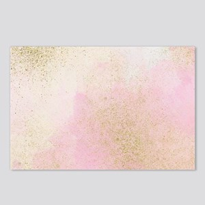 Pretty In Pink And Gold D Postcards (Package of 8)