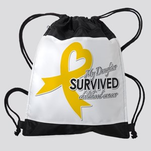 My Daughter Survived Childhood Canc Drawstring Bag