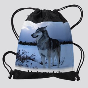 zza Cosmo I hate snowballs cropped. Drawstring Bag