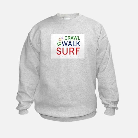 Crawl, Walk, Surf Sweatshirt