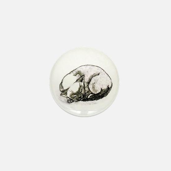 Sleeping Siamese Mini Button