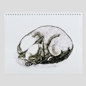 Sleeping Siamese Wall Calendar