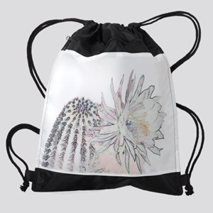 Barrel Cactus 4 Drawstring Bag