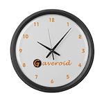 Gaveroid Logo Large Wall Clock