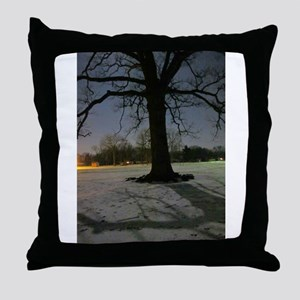 Defiant of the Cold Throw Pillow