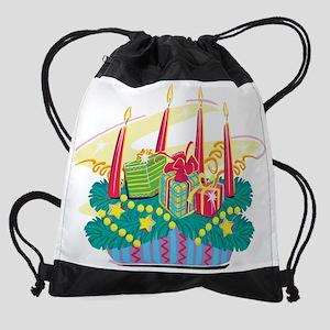 xmas centerpiece Drawstring Bag
