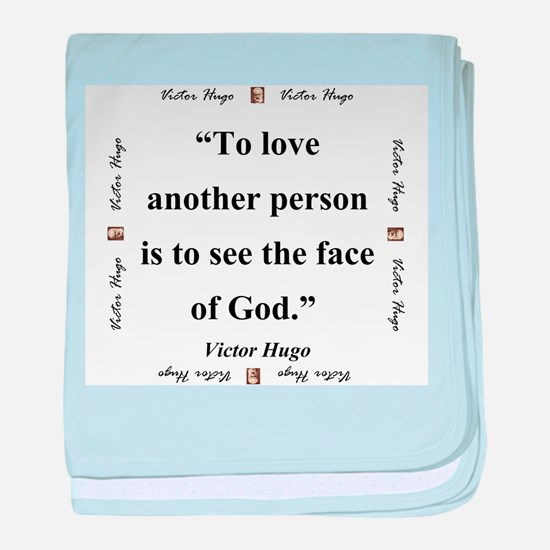 To Love Another Person - Hugo baby blanket