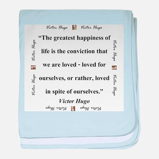 The Greatest Happiness of Life - Hugo baby blanket