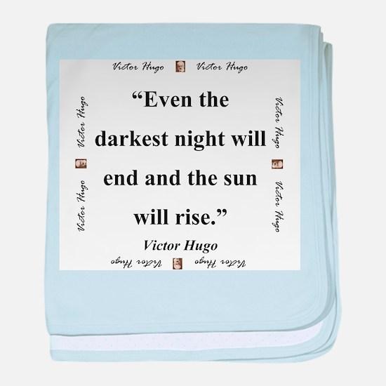 Even The Darkest Night Will End - Hugo baby blanke