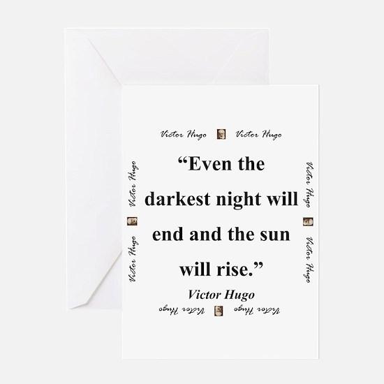 Even The Darkest Night Will End - Hugo Greeting Ca