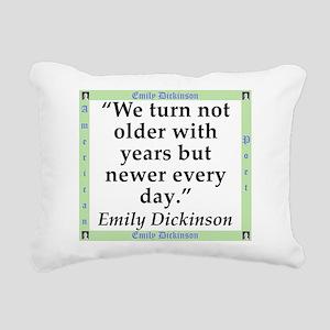 We Turn Not Older - Dickinson Rectangular Canvas P
