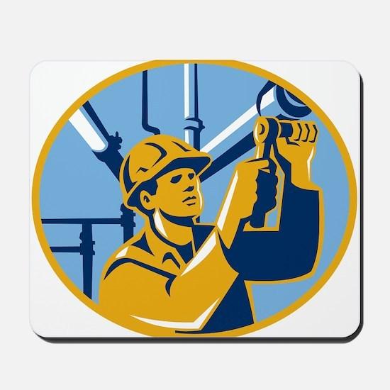 Pipefitter Maintenance Gas Worker Plumber Mousepad