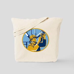 Pipefitter Maintenance Gas Worker Plumber Tote Bag