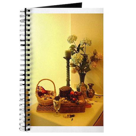 Antique Baskets in Golden Light journal