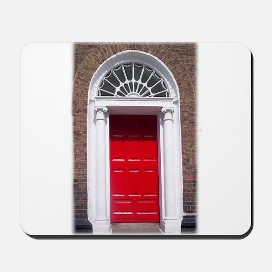 Red Dublin Door Mousepad