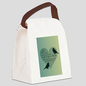 Bird Friends Canvas Lunch Bag