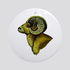 RAM Round Ornament